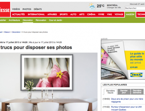 5 trucs pour disposer ses photos [ FRENCH NEWSPAPER ARTICLE ]