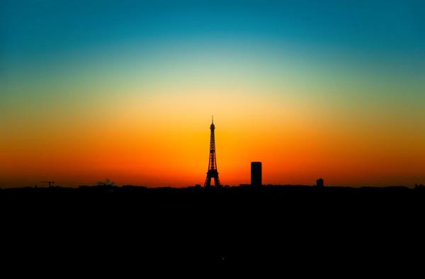 Lever de soleil sur Paris