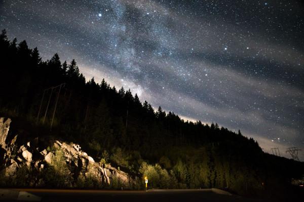 Route sous les étoiles